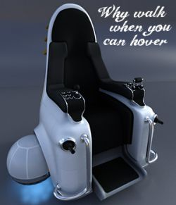 Hover Throne for Poser and DS