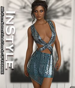 InStyle - JMR dForce Abstract Printed Dress for G8F