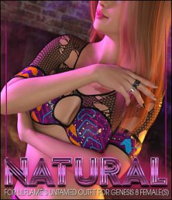 Natural for Untamed Outfit for Genesis 8 Female(s)