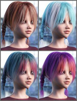 OOT Hairblending 2.0 Texture XPansion for Dallas Pigtails Hair