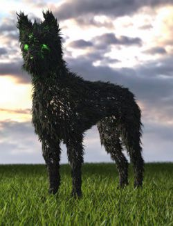 dForce Thicket for Daz Dog 8