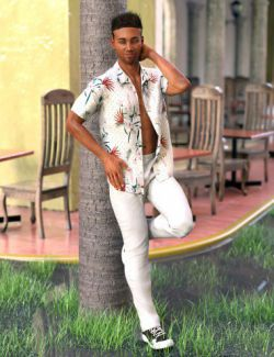 dForce Party Oahu Outfit for Genesis 8 Male(s)