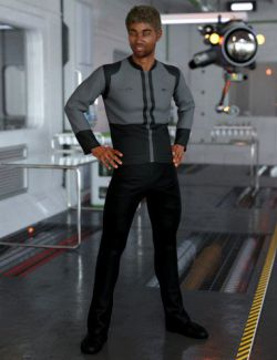 dForce Bridge Officer Outfit for Genesis 8 Male(s)