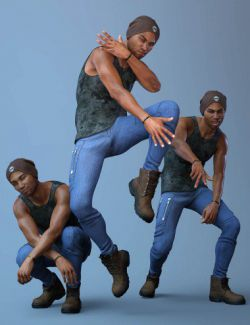 CDI Poses and Expressions for Silas 8 and Genesis 8 Male