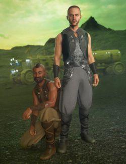 dForce Desert Raider Outfit Textures
