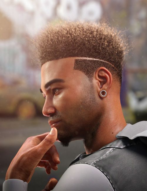 Afro Fade Hair for Genesis 3 and 8