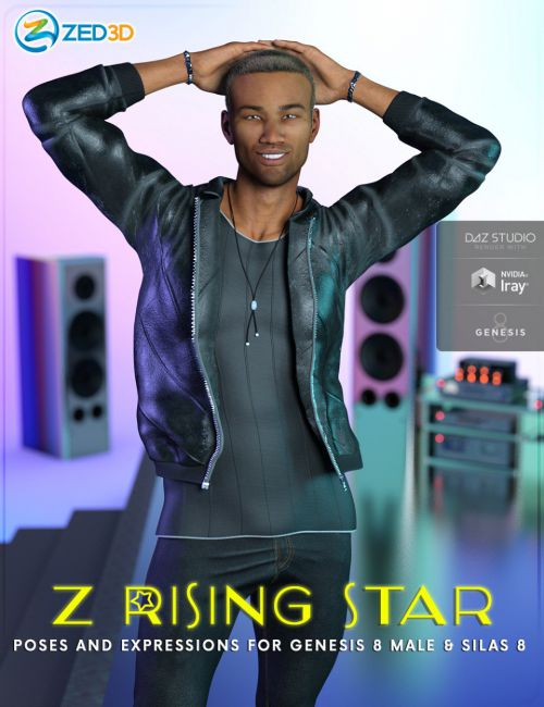 Z Rising Star Poses and Expressions for Genesis 8 Male and Silas 8