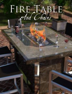 Fire Table and Chairs