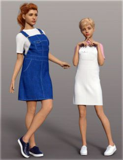 dForce H&C Overall Skirt Outfit for Genesis 8 Female(s)