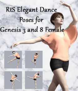 RtS Elegant Dance Poses for Genesis 3 and 8 Female