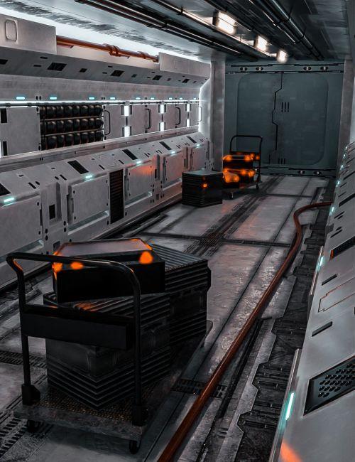Tesla Scifi Corridor