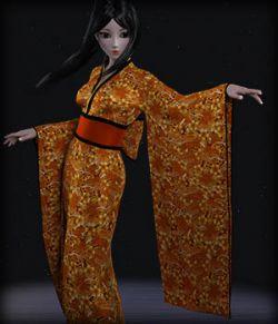 dForce Kimono for G3F Textures AddOn