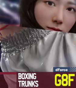 Boxing Trunks G8F for Genesis 8 Female