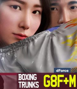 Boxing Trunks G8Pack for Genesis 8 Female and Male