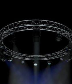 Circle Square Truss 400cm-Stage Lights - Extended License