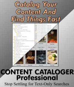 Content Cataloger PRO for 3D Content and Multimedia Catalog Creations (WINDOWS v