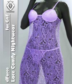 JMR dForce Lace Comfy Nightwear for G8F
