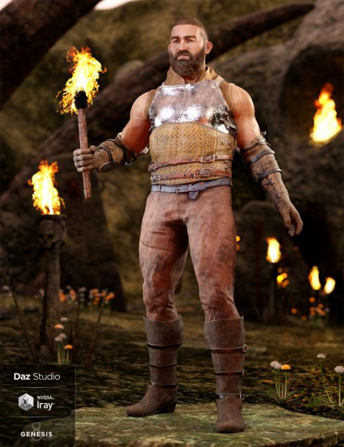 Paladin of Solitude Outfit for Genesis 8 Male(s)