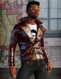 Leather Jacket Outfit for Genesis 8 Male(s)