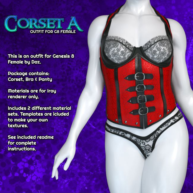 Exnem Corset A for Genesis 8 Female