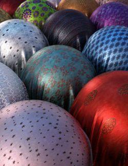 Georgeous Metallic Silk and Overlays Iray Shaders