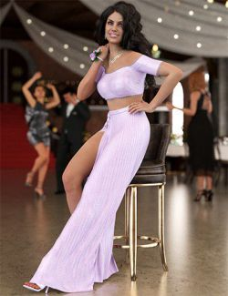 dForce Evening Dress for Genesis 8 Female(s)