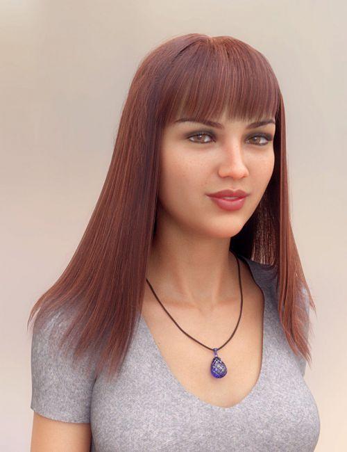 Full Fringe dForce Hair for Genesis 3 and 8 Female
