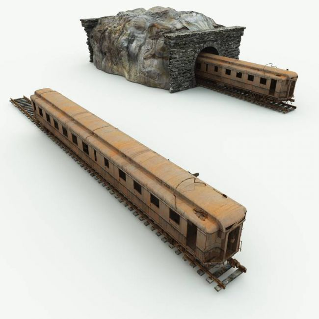 Abandoned Train Car for Blender