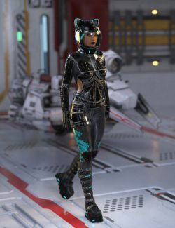 Space Racer Outfit for Genesis 8 Female(s)