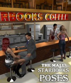The Mall Starbooks poses