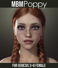 MbM Poppy for Genesis 3 & 8 Female