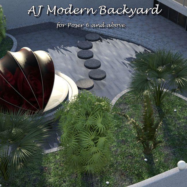AJ Modern Backyard