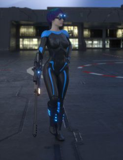 Sci-Fi Sniper Outfit For Genesis 8 Female