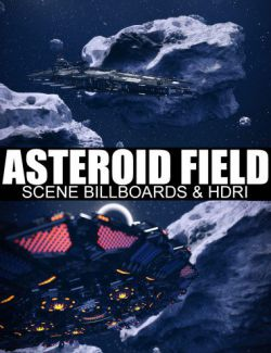 Asteroid Field Scene Billboards and HDRI