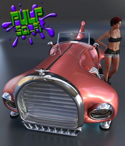 Flying Car for Poser and Daz Studio