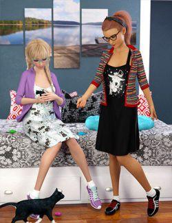 dForce Kitten Dress Textures