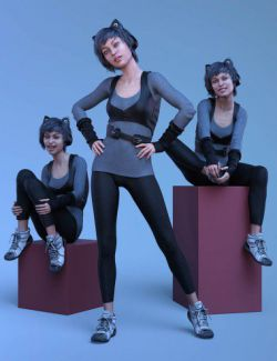 CDI Poses for Teen Raven 8 and Genesis 8 Female