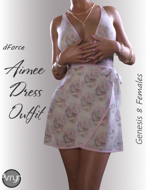 dForce Aimee Candy Dress for Genesis 8 Female(s)