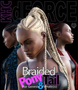 KHC - Braided Pony Tail For Genesis 8 Females