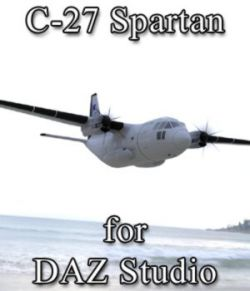 C-27 Aircraft for DAZ Studio