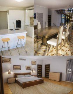 Modern House 2 Props Floor 2