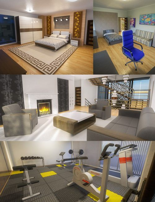 Modern House 2 Props Floor 3 and 4