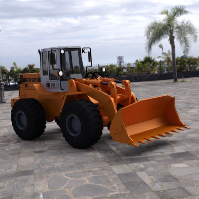 Fiat-Allis Loader FR 130 for DAZ Studio