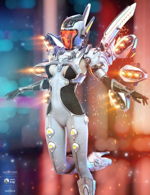 dForce Mech Dancer Outfit for Genesis 8 Female(s)