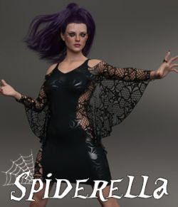 Spiderella dForce dress for Genesis 8 Females