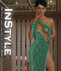 InStyle- JMR dForce Cutout Long Dress for G8F
