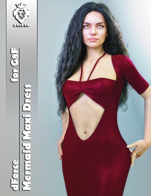 JMR dForce Mermaid Maxi Dress for G8F
