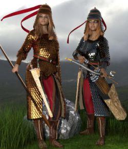 Royal Scythian Armor for Genesis 8 Female