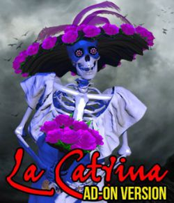 El Dia de Los Muertos- La Catrina for Mr Bones or V4 ADD ON
