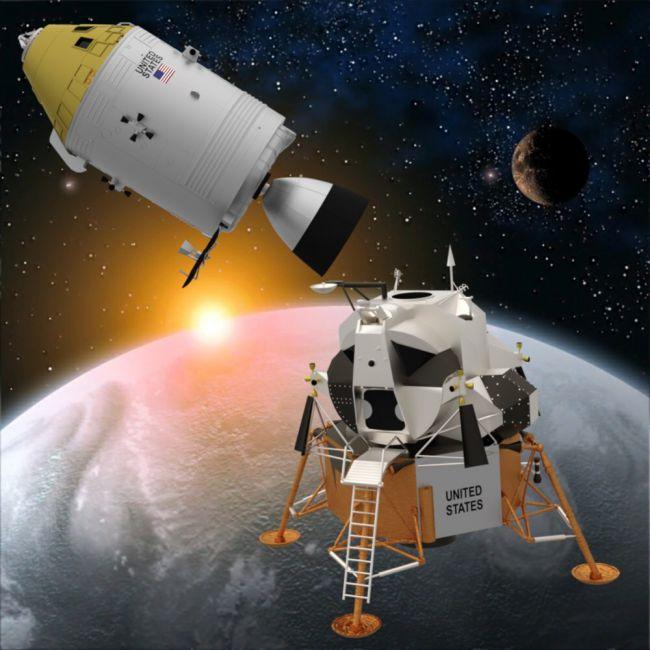 Apollo Spaceship Set for DAZ Studio